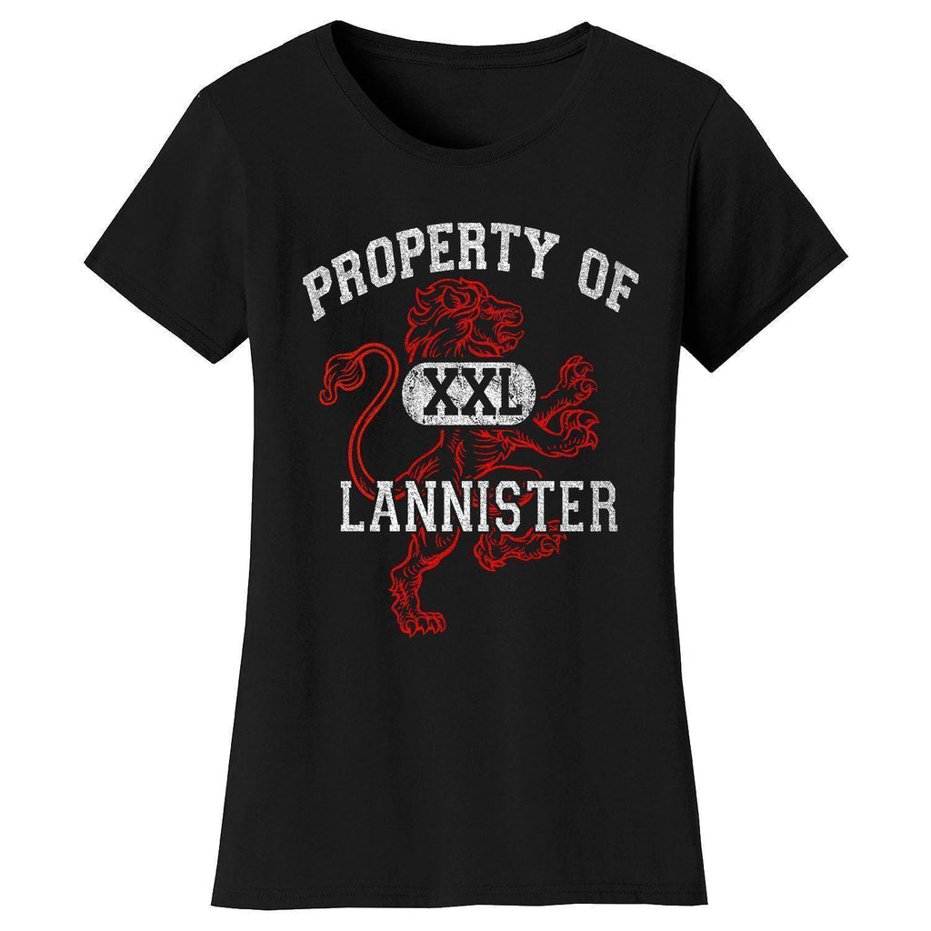 Daily Steals-Women's Thrones and Dragons T-shirts-Women's Apparel-Small-Property of Lannister - Black-