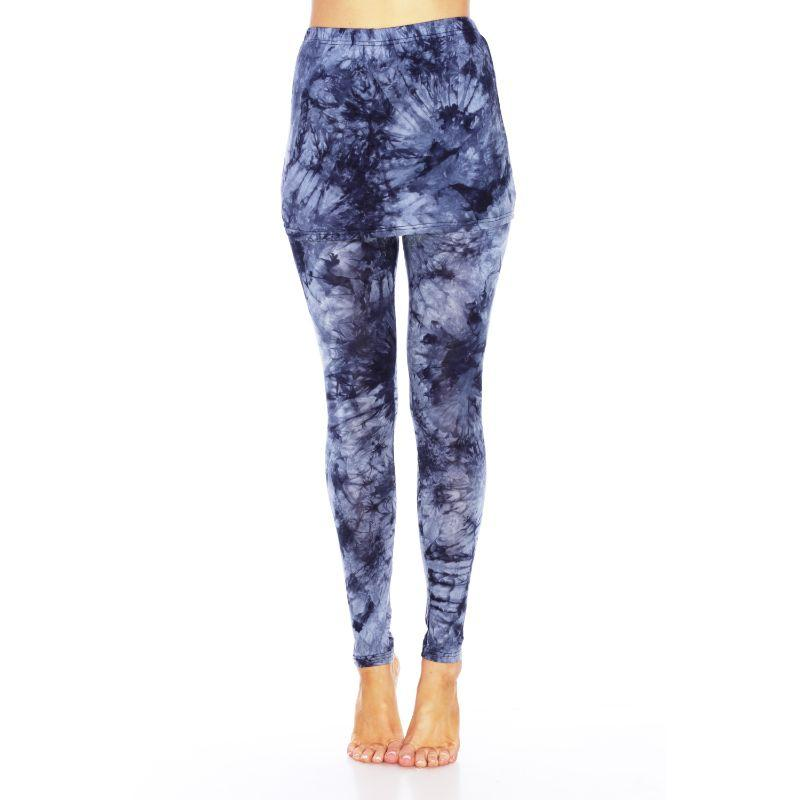 Women's Tie Dye Skirted Leggings by Whitemark-Navy-L-Daily Steals