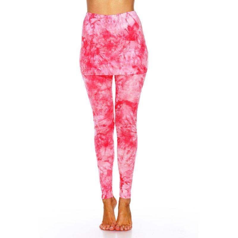 Women's Tie Dye Skirted Leggings by Whitemark-Red-S-Daily Steals
