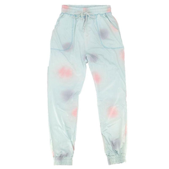 Womens Tie Dye Sweatpants-Light Blue-XL-