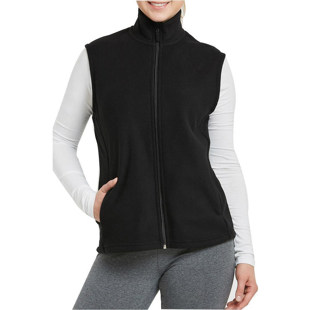 Daily Steals-Womens Zip Up Sleeveless Polar Fleece Vest-Women's Apparel-Black-Small-