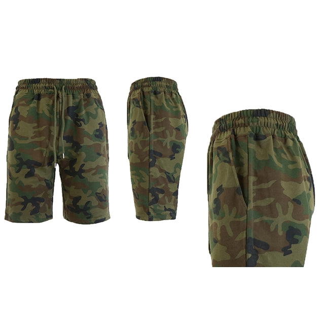 Daily Steals-Men's Printed French Terry Shorts - Sizes S-2X-Men's Apparel-Woodland-M-