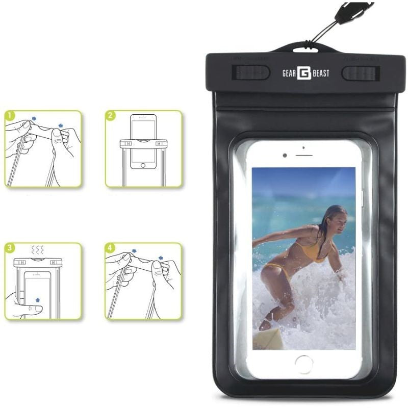 PVC Protective Waterproof Bag for Smartphones With Clip & Strap - 2 Pack-Daily Steals