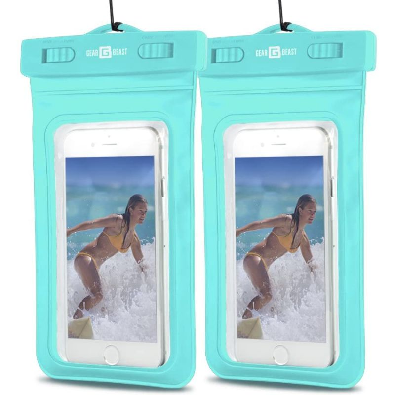 PVC Protective Waterproof Bag for Smartphones With Clip & Strap - 2 Pack-Blue-Daily Steals