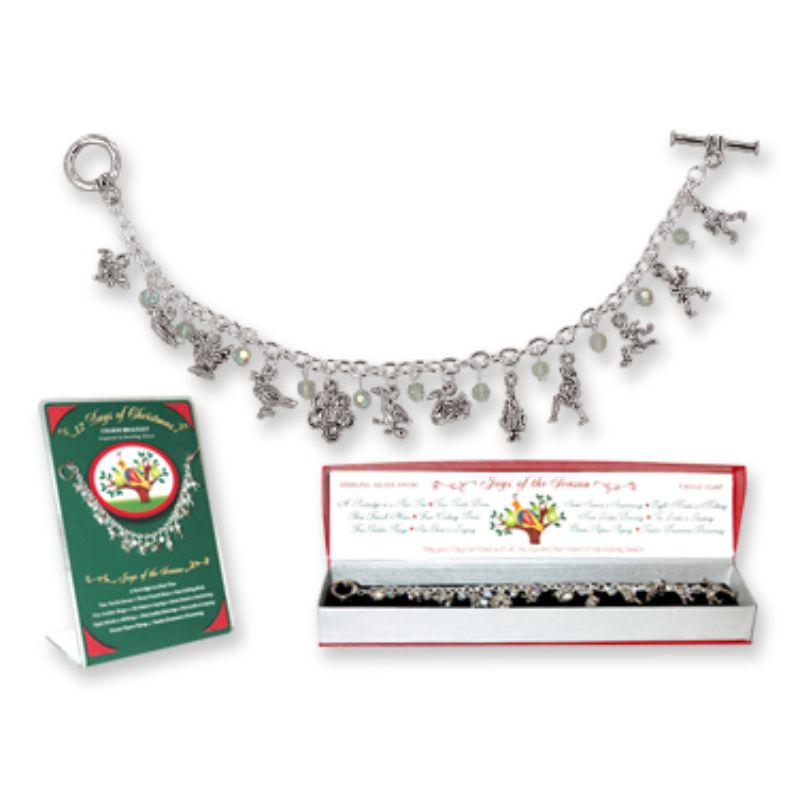 12 Days of Christmas Toggle Charm Bracelet-Daily Steals