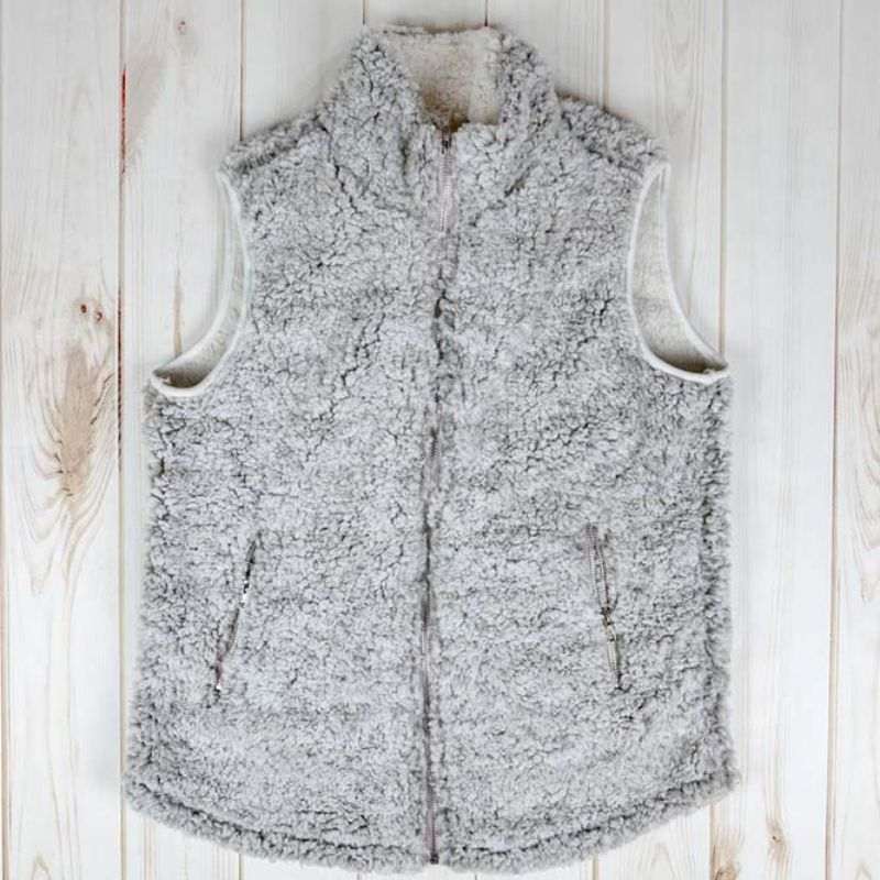 Super Soft Teddy Gilet-Gruau-Gris Heather-Large-Daily Steals