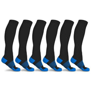 xFit Copper-Infused Compression Socks - 6 Pack-Blue-S/M-