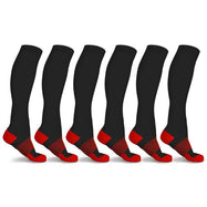xFit Copper-Infused Compression Socks - 6 Pack-Red-L/XL-