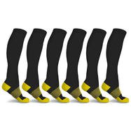 xFit Copper-Infused Compression Socks - 6 Pack-Yellow-L/XL-