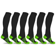 xFit Copper-Infused Compression Socks - 6 Pack-Green-S/M-
