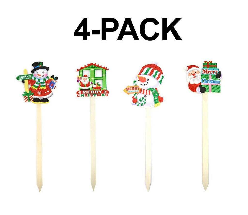 Daily Steals-[4-Pack] Christmas Yard Signs-Other-
