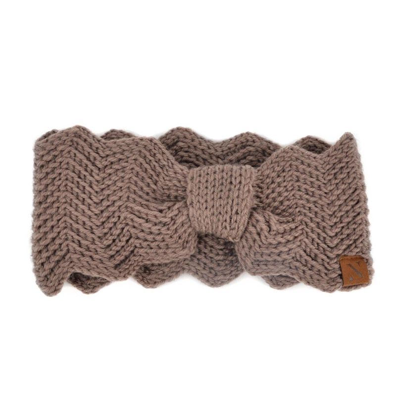 Nollia Women's Knotted Knit Winter Head Band-Brown-Daily Steals