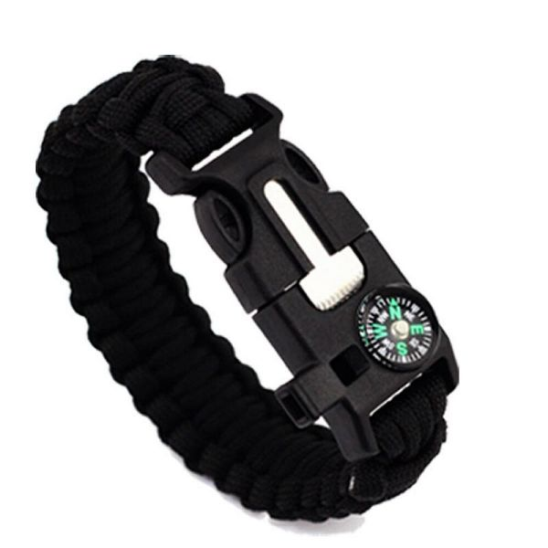 Daily Steals-5-in-1 Survival Bracelet - 2 Pack-Outdoors and Tactical-Black-