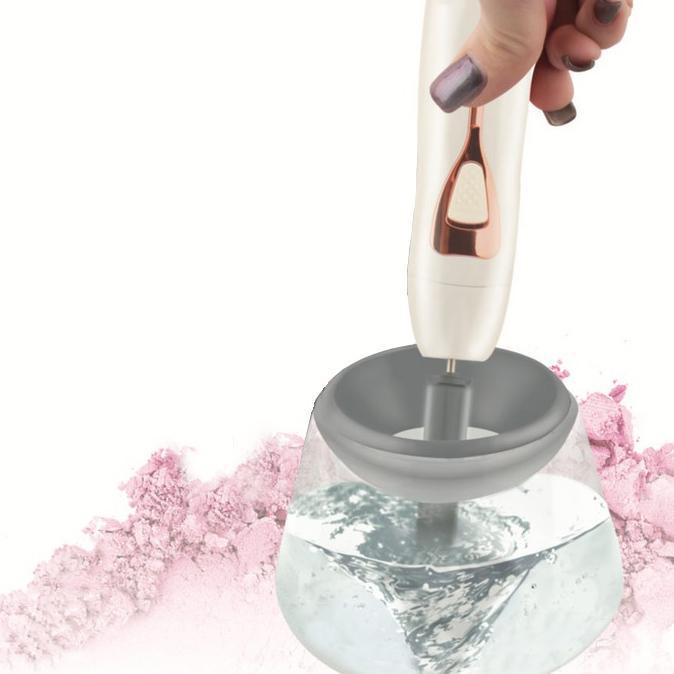 Vivitar Simply Beautiful Makeup Brush Cleaner-White-Daily Steals