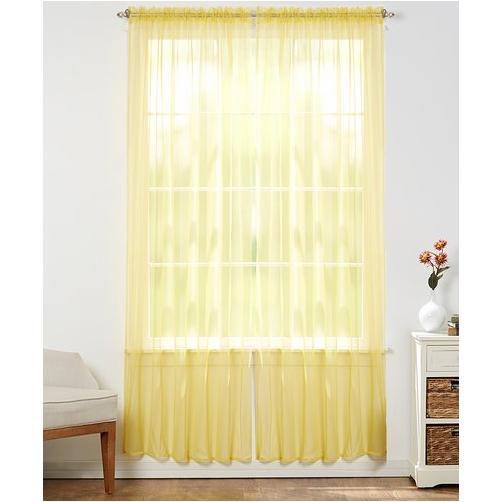 Linda Sheer Voile Curtain Panels - Various Colors - 4-Pack-MANGO-Daily Steals