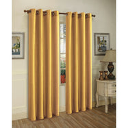 Set of Two Stylish Curtain Panels with Rod Grommets: 58 x 84 Inches-Yellow-Daily Steals