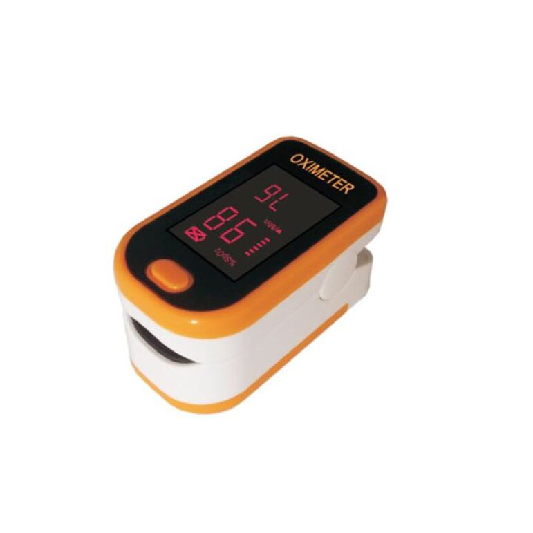 Finger Pulse Oximeter with LED Display-Orange-Daily Steals