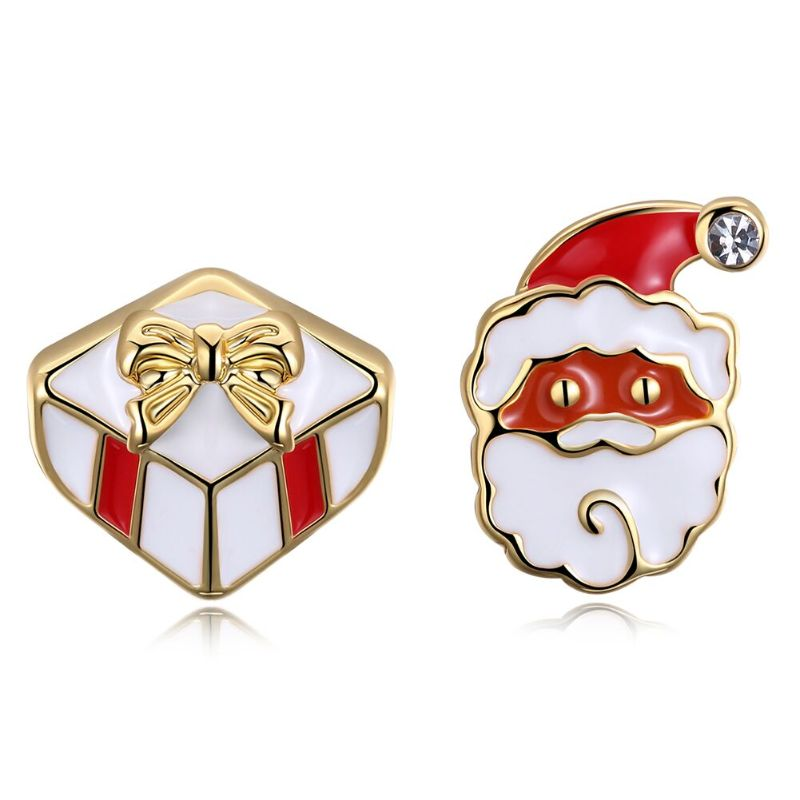 Santa Clause Studs - Yellow Gold