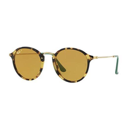Daily Steals-Ray-Ban Round Fleck Pop Polarized Sunglasses-Sunglasses-Yellow Havana - 49mm-