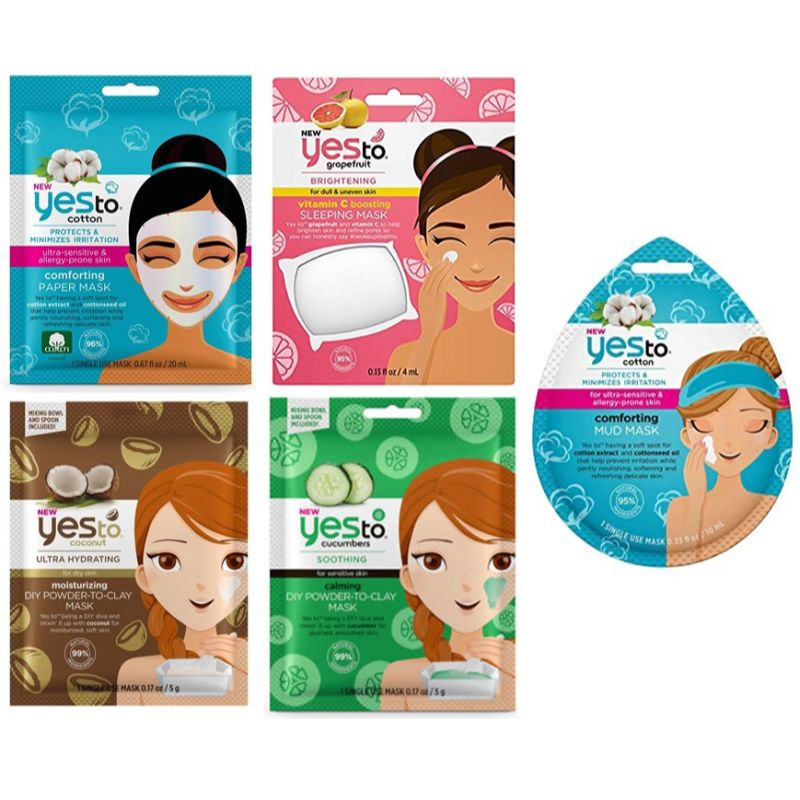 Yes to 5 Piece Face Mask Set-Daily Steals