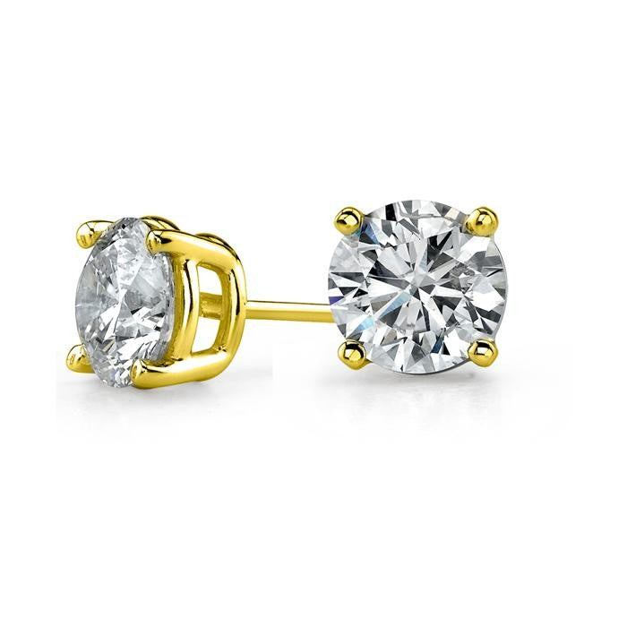 18kt Yellow Gold Plated Stud Earrings-Daily Steals
