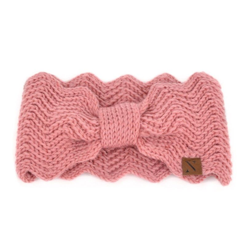 Nollia Women's Knotted Knit Winter Head Band-Pink-Daily Steals