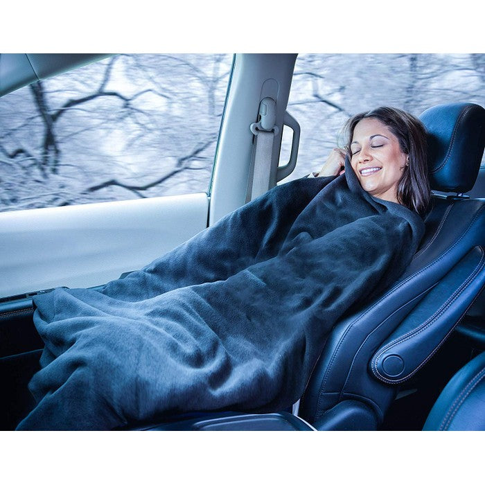 Zone Tech Car Heated Travel Blanket - 2 Pack-Daily Steals