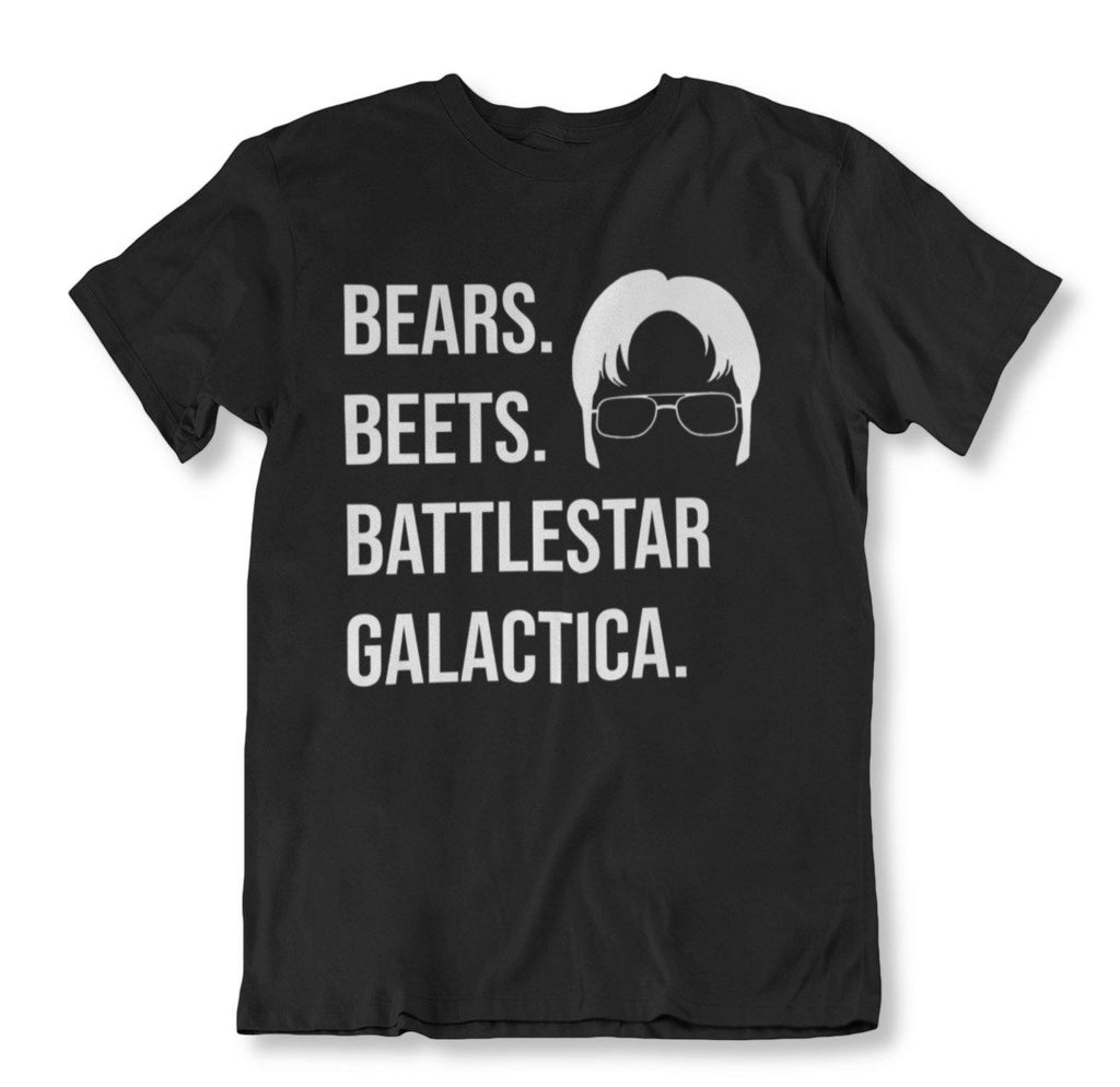 The Office Theme Inspired Tees - 4 Styles!-2XL-Bears Beats Battlestar Gallactica-Daily Steals
