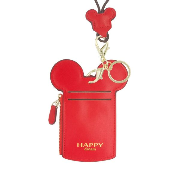 Theme Park Ticket Holder and ID Card Necklace - 6 Colors-Red-Daily Steals