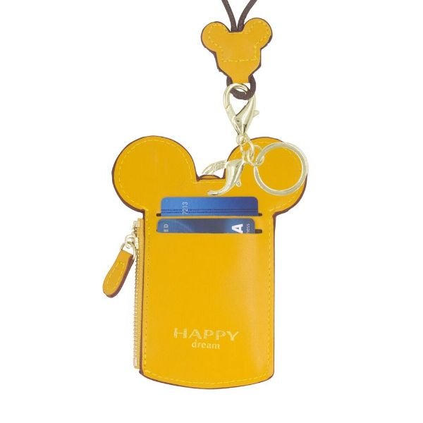 Theme Park Ticket Holder and ID Card Necklace - 6 Colors-Yellow-Daily Steals