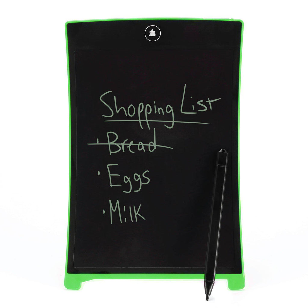 "Magic Touch Ultra-Thin 8.5"" LCD Magnetic-Back Writing Tablet with Stylus - Assorted Colors-Green-Daily Steals"