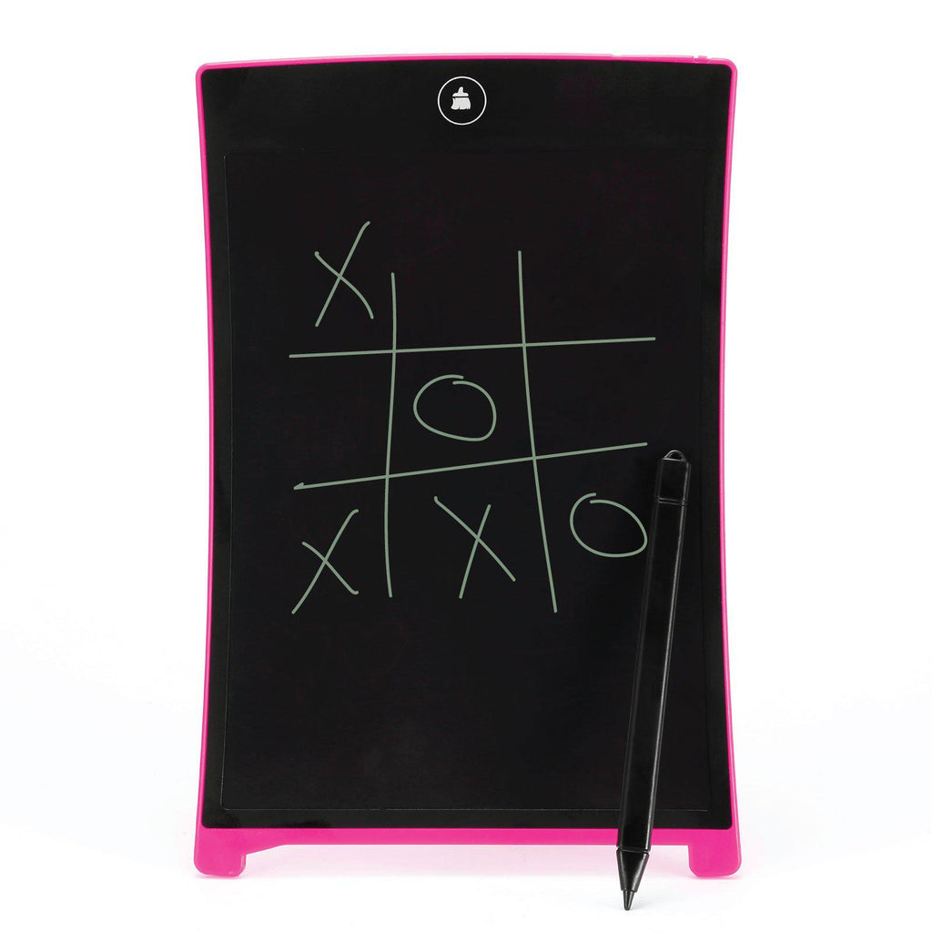 "Magic Touch Ultra-Thin 8.5"" LCD Magnetic-Back Writing Tablet with Stylus - Assorted Colors-Pink-Daily Steals"