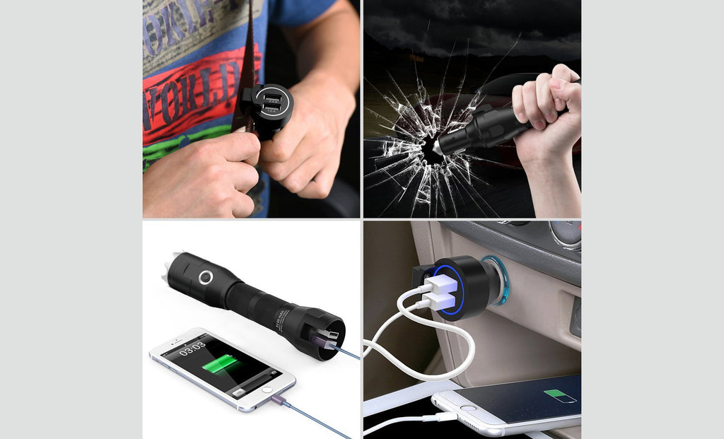Multifunctional LED Flashlight + Car Emergency Escape- 5-in-1 Tool Kit-Daily Steals