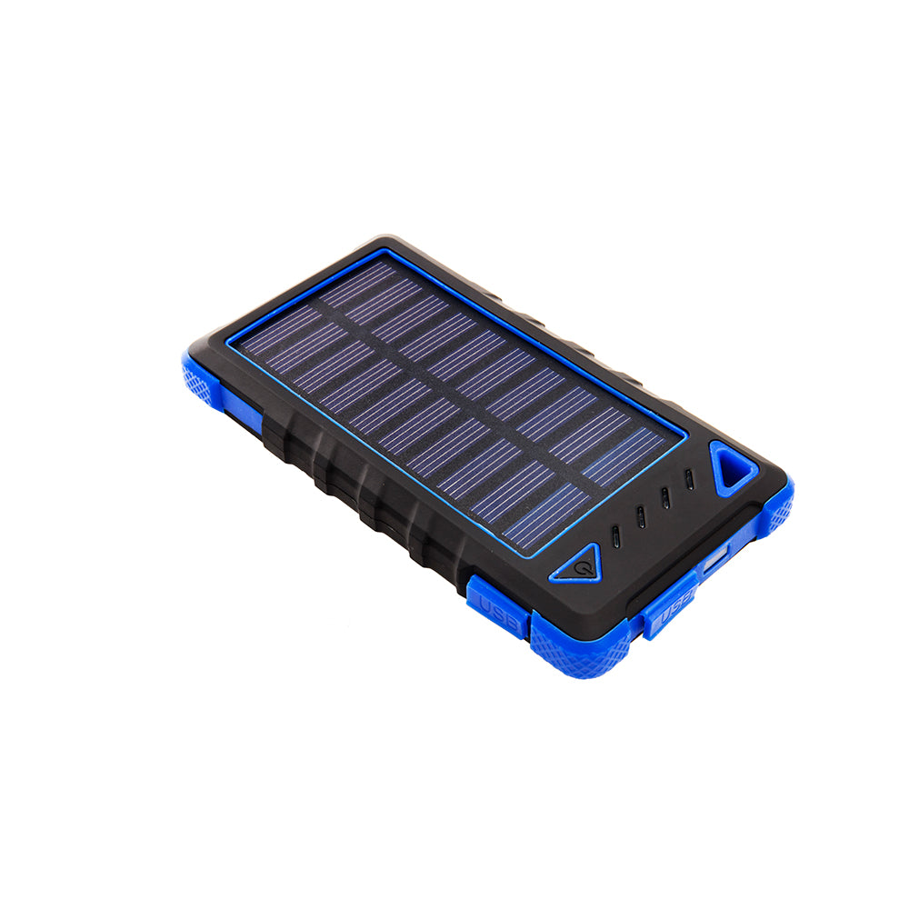 Ultra-Compact High-Speed 8,000mAh Portable Solar Smartphone Charger with LED Flashlight-Turquoise-Daily Steals