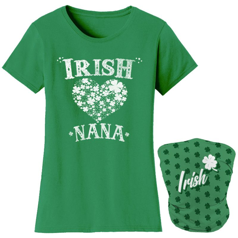 Women's Kelly Green Luck of the Irish Mom St. Patrick's Day T-Shirts with Gaiter