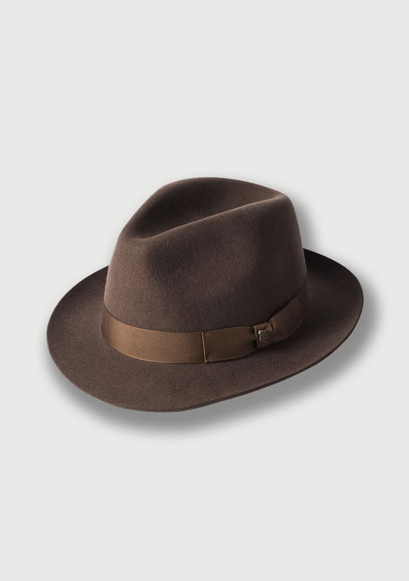 Wool Felt Trilby - Brown