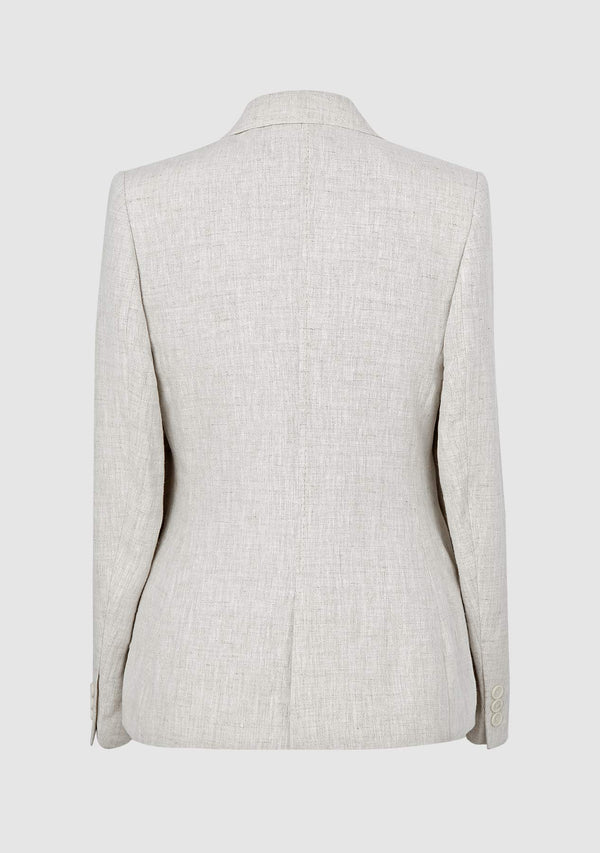Claire Linen Jacket - Natural