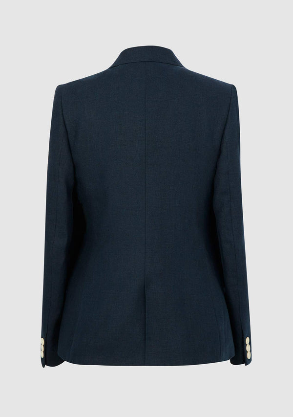 Claire Linen Jacket - Navy
