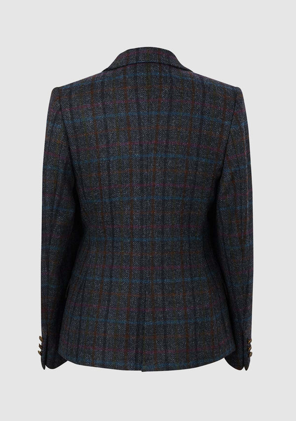 Claire Hacking Jacket - Navy Multi Check