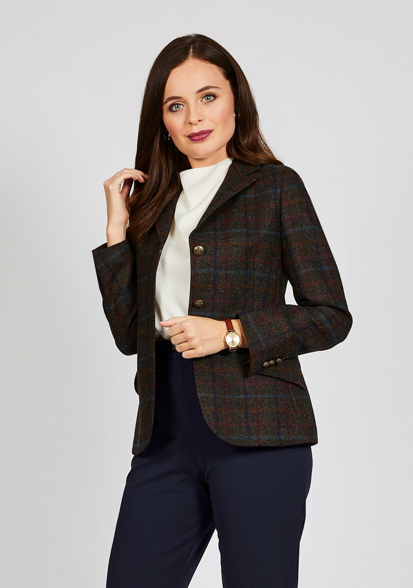 Claire Hacking Jacket - Brown & Navy