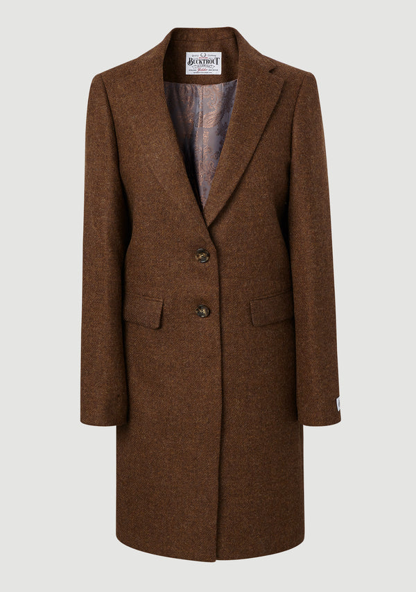 Ladies Crombie Coat - Tobacco