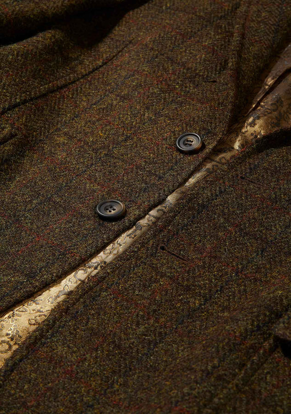 Edward Slim Fit Jacket - Green/Brown Mix