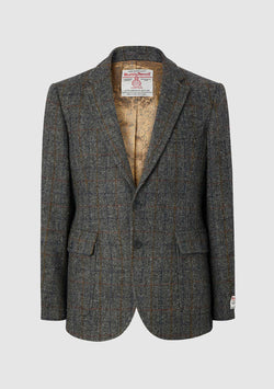 Edward Slim Fit Jacket - Grey Mix Check