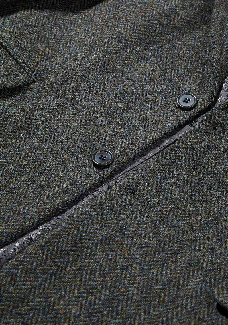Finlay Jacket - Grey/Blue Herringbone