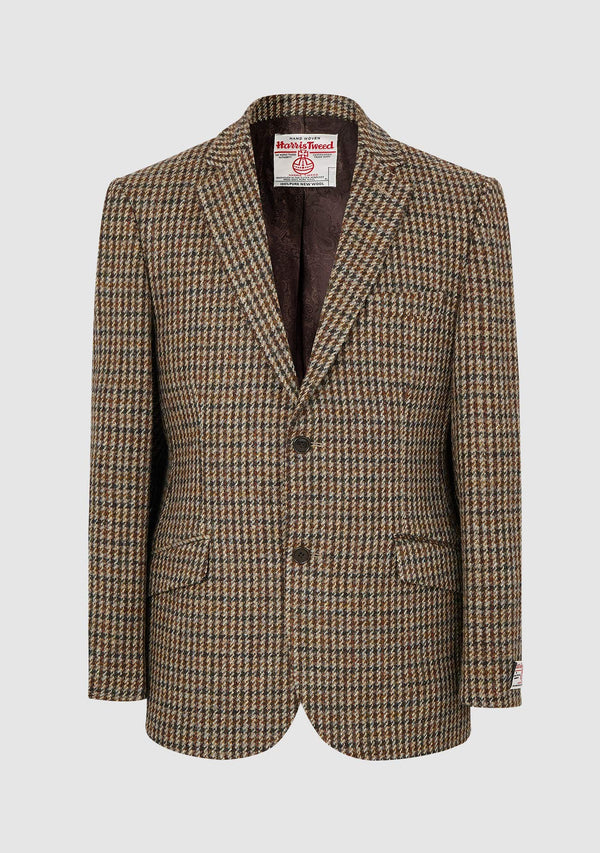 Patrick Jacket - Brown Dogtooth