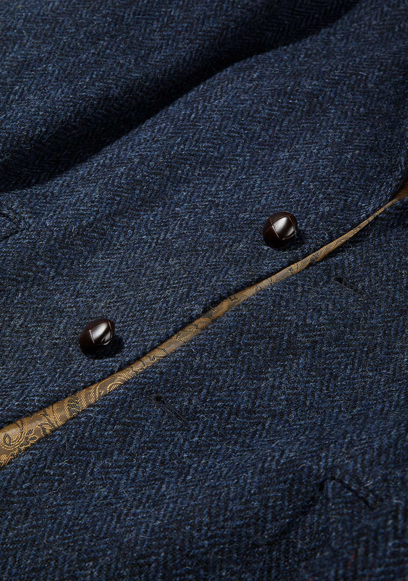 Patrick Jacket - Navy Herringbone