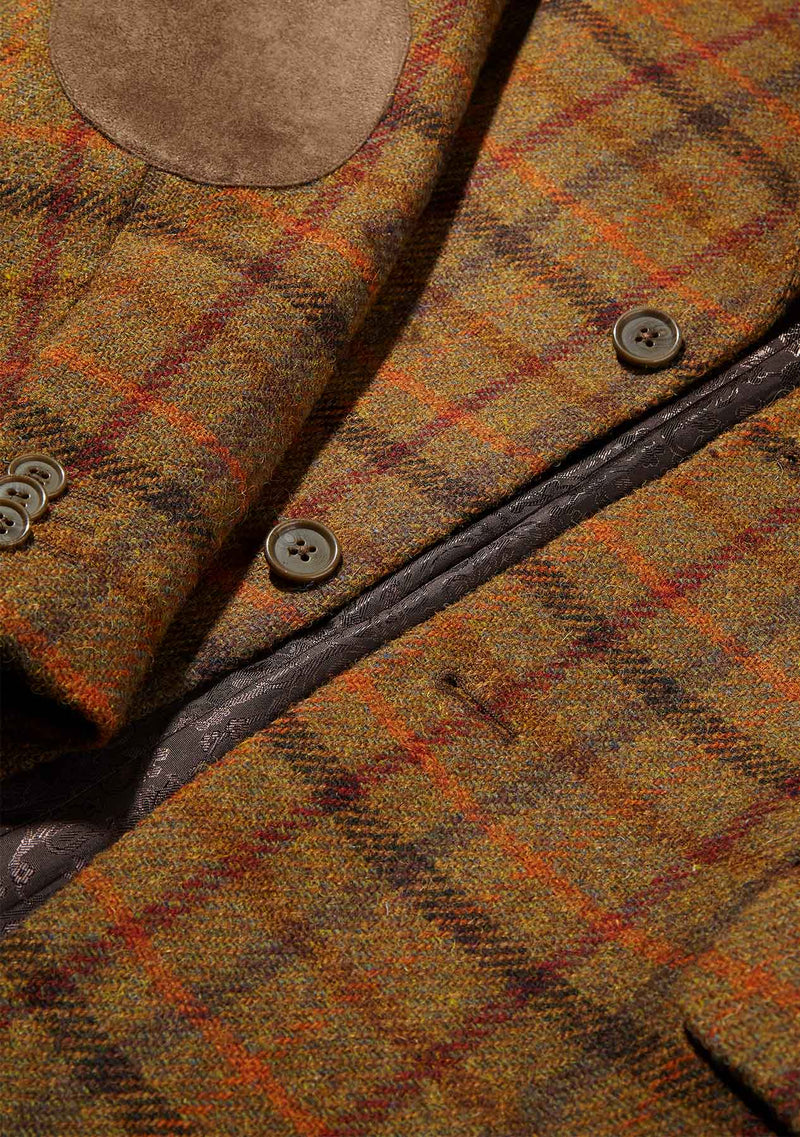 Patrick Jacket - Orange & Tan Check