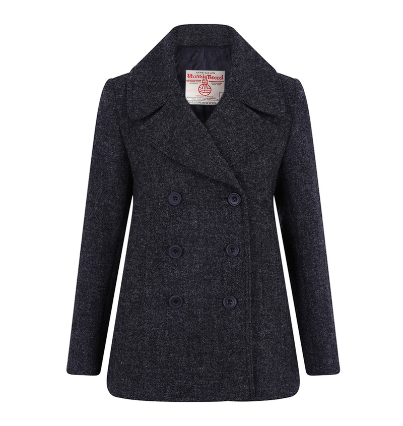 Riley Ladies Reefer Coat - Grey