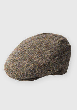 Harris Tweed Flat Cap - Brown