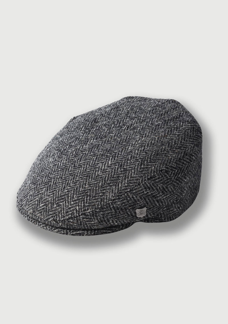 Harris Tweed Flat Cap - Charcoal